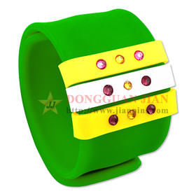 Slap Bracelets with Sliding Ring