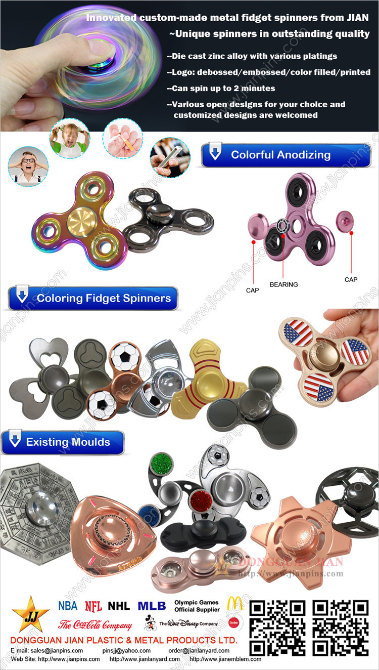 Innovated Custom-made Metal Fidget Spinner From JIAN
