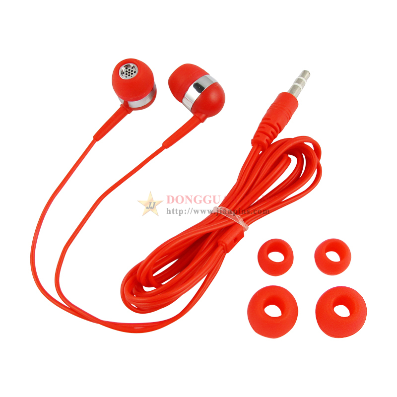 Red in ear earphones