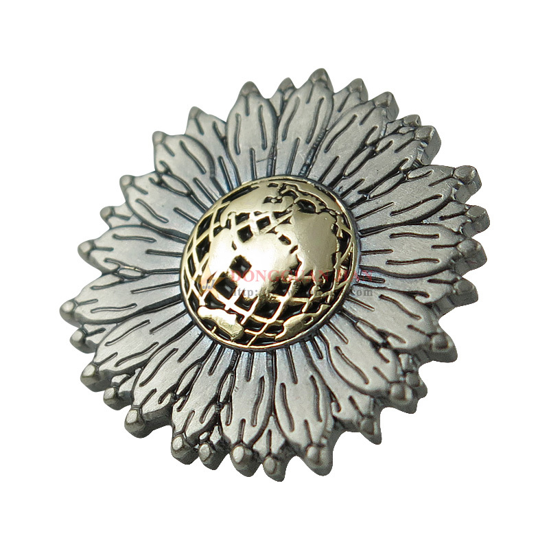 Zinc Alloy Wording Metal Badge