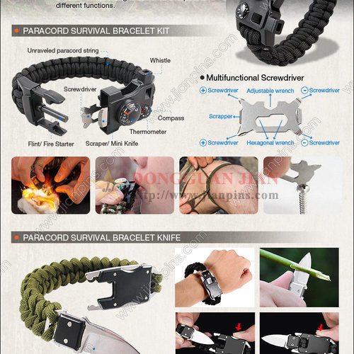 Outdoor Survival Bracelets
