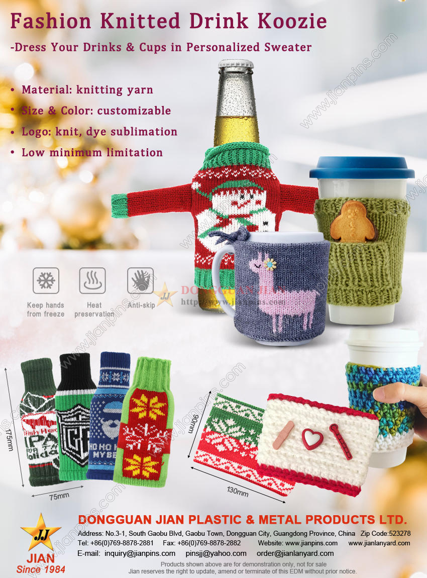 Fashion Knitted Drink Koozie