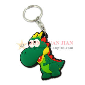 Single-side 3D Soft PVC Keyring