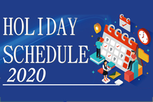 Holiday Notice of coming new year 2020