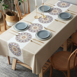 What are the material of the table mat? What material is good for the table mat