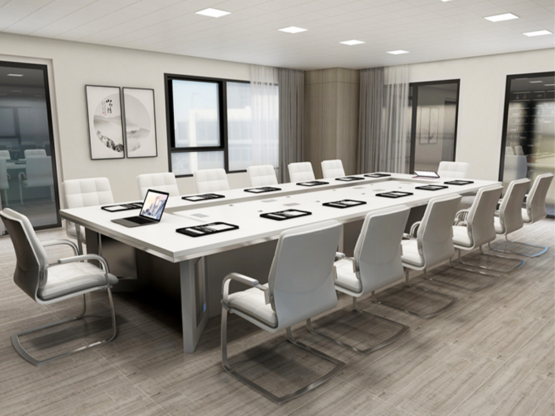 Custom White Conference Table For 20 people for Cambodia