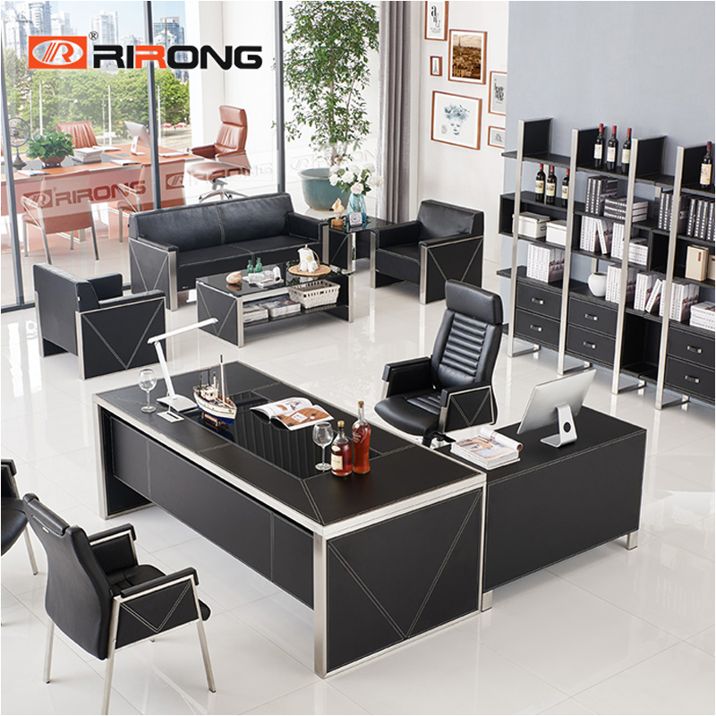 Dk-black executive table