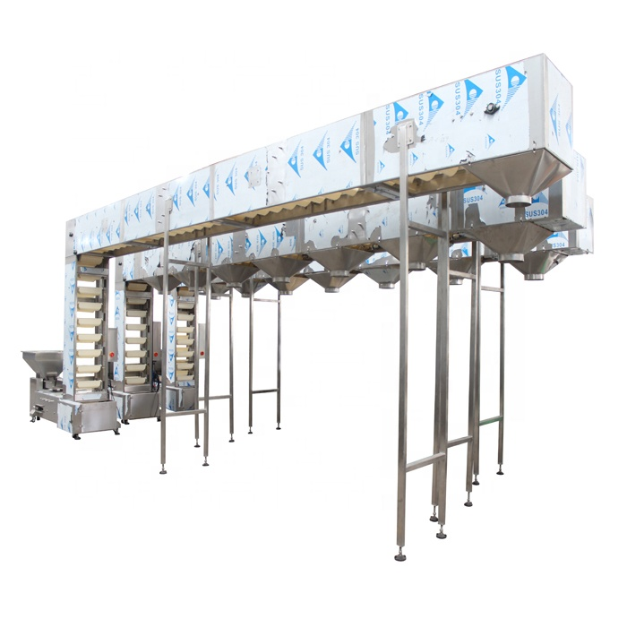 Vertical Bucket Elevator With Multiple Discharging Outlets