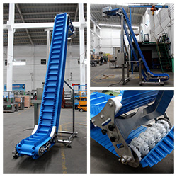 Inclined Easy-to-clean PU Belt Conveyor
