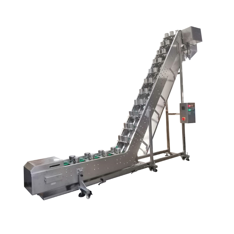 Double Cups Inclined Conveyor with Customized Sizes