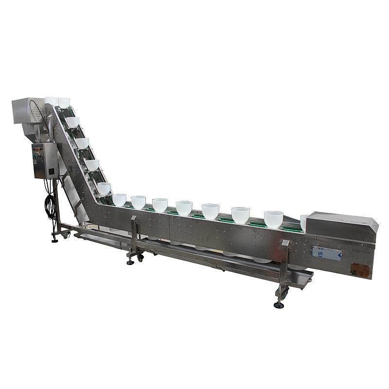 Inclined Plastic Bowl Conveyor Manufacturer