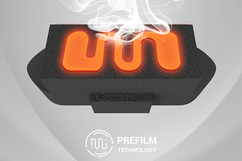 PREFILM Technology is designed for maximum vapor production