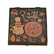 logo printing customize brown kraft paper inside lining corrugate pizza box