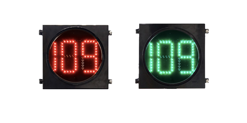 Clear Lens Countdown Timer Traffic Light