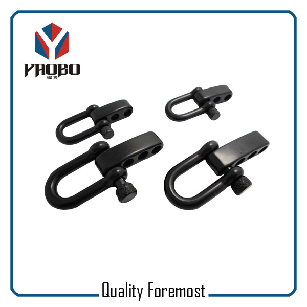 Manufacture High Quality Stainless Steel Black Color Shackles With Adjustable