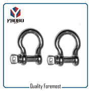 High Quality Stainless Steel Silver Color Bow Shackles