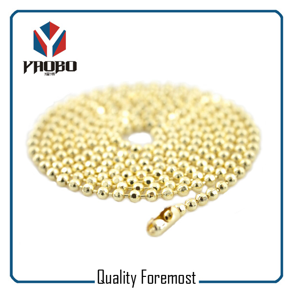 Light Gold Stainless Steel Ball Chain