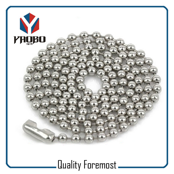 Silver Stainless Steel Ball Chain