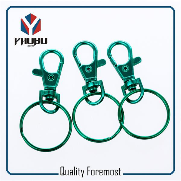 Green Clasp Snap Hook With Key Ring