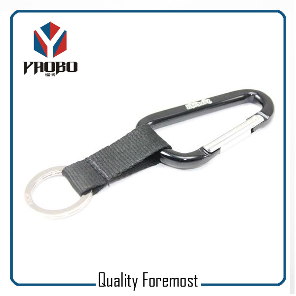 Carabiner With Lanyard For Key
