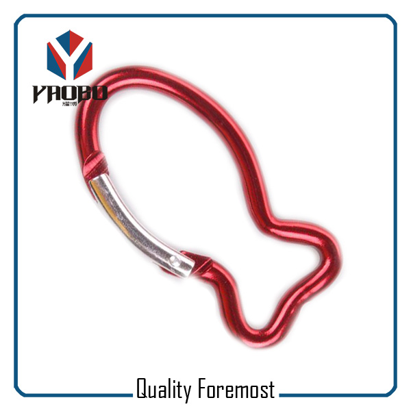 Red Color Fish Carabiner