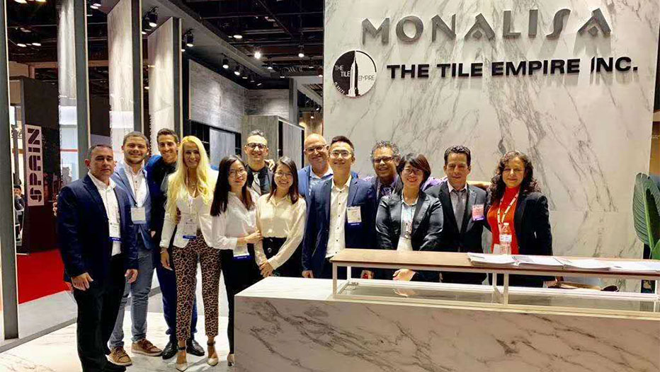 Mona Lisa participated in the Coverings Exhibition in the United States