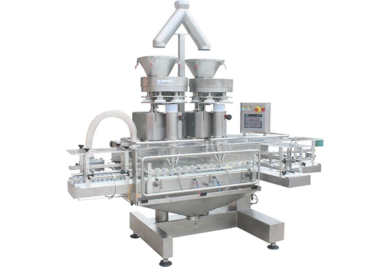 What should I do if the powder is clamped during packaging by the Powder Packing Machine?