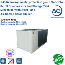 Air to water Scroll Chiller R410A air cooled water chiller