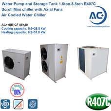 Air Cooled Water Chiller/ Mini chiller R407C air cooled scroll chiller