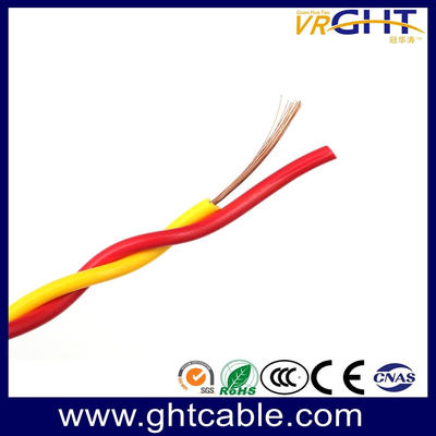 Two Cores Twisted Flexible Electric Cable