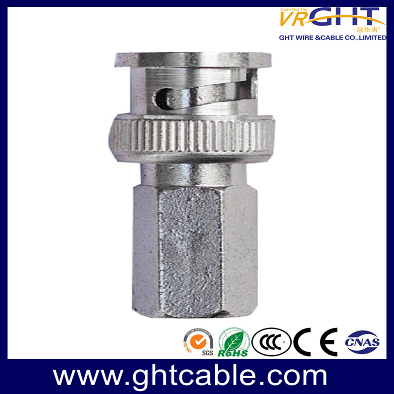CT012 Rg58 Rg59 RG6 BNC Female to Male Adapter Nickel Plated Connector