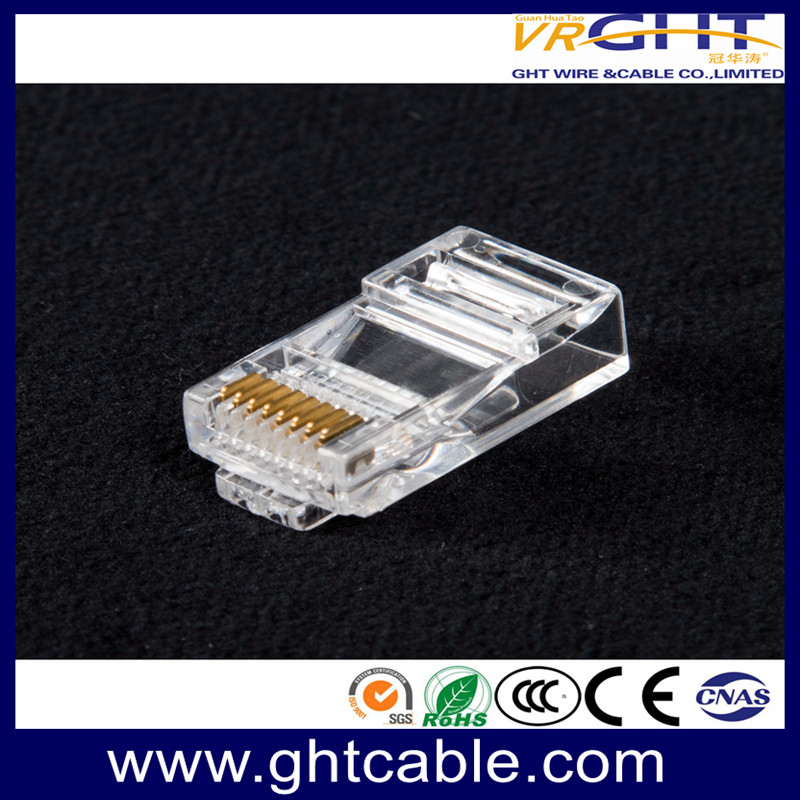 RJ45 8P8C UTP CAT5E Crystal Connector Gold-Plated Content 1-50μ