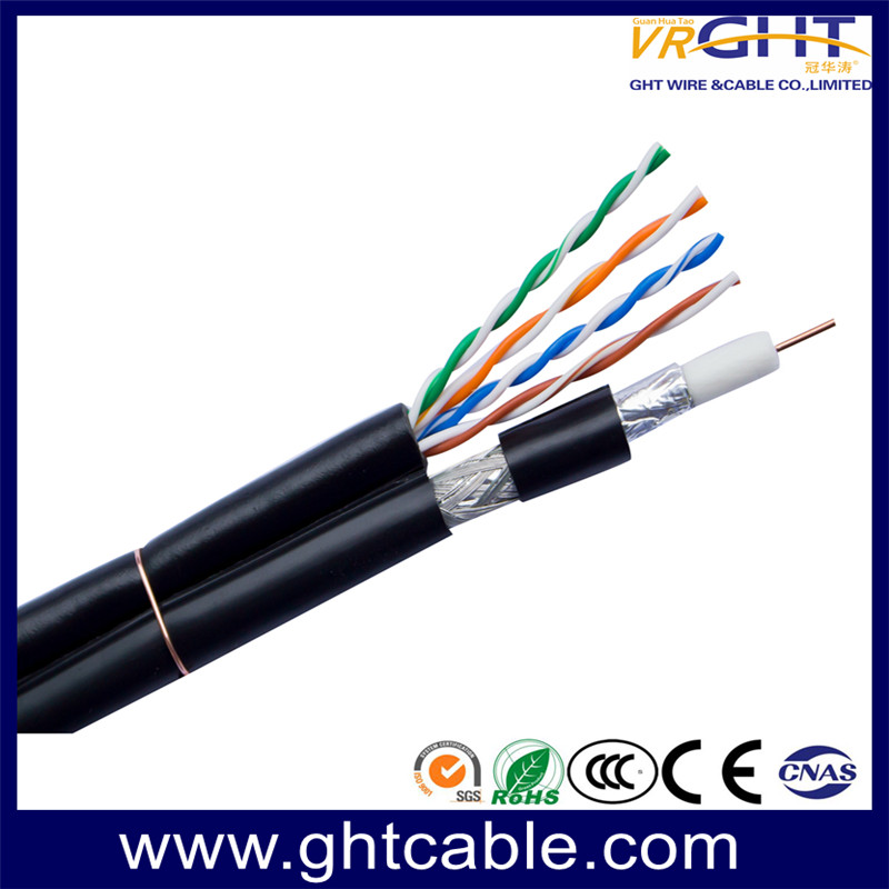Coaxial Cable RG6 with Network Cable cat5e