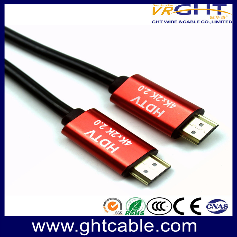 HDMI CABLE 1.4V/2.0V RED ALLOY