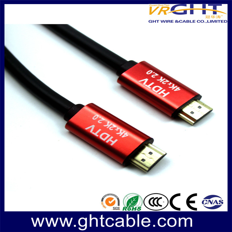 HDMI CABLE 1.4V/2.0V RED ALLOY MATTE PVC