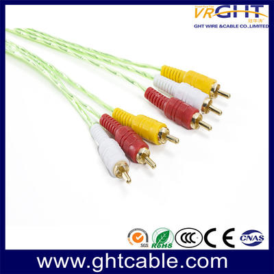 3RCA - 3RCA Cable Red PVC