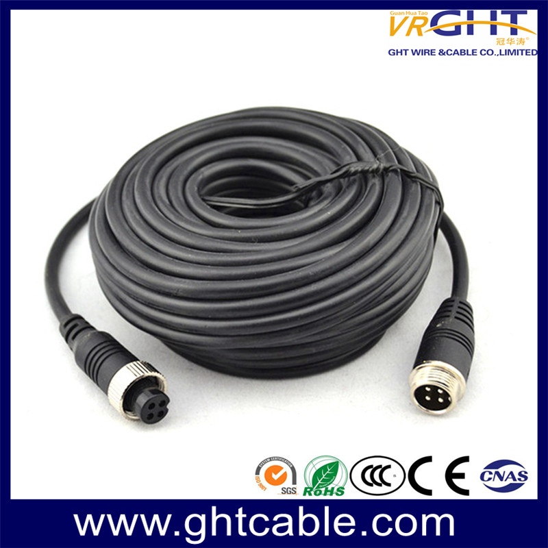 CCTV Cable with 4 Pin Aviation Connector for Car Camera