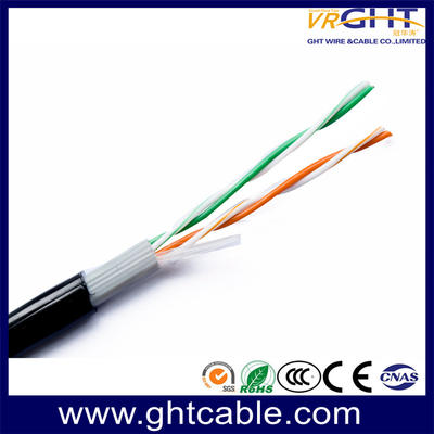 Twisted Pair of UTP Cat5e for Ethernet/2 Pare Telephone Cable