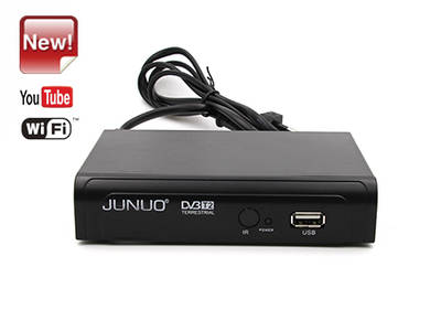 Junuo Factory High Quality Dvb T2 Digital Receiver  with Youtube