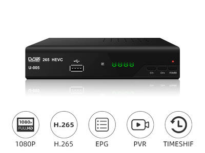 JUNUO full hd fta  digital dvb t2 receiver h 265 set top box
