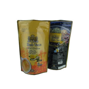 Herbal Tea Packaging ALU Stand Up Pouches With Zipper