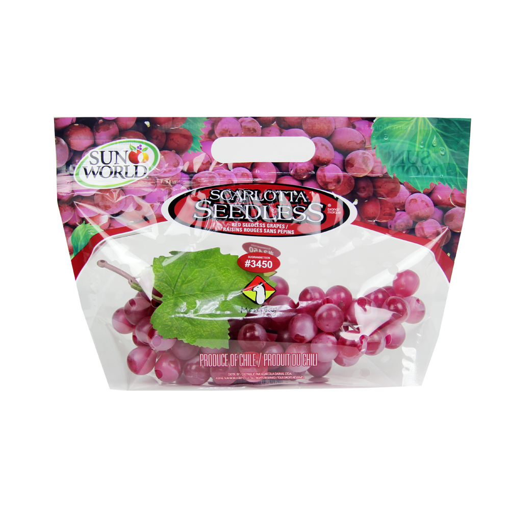 Chile Red Seedless Grapes Fresh Produce Packaging Bag