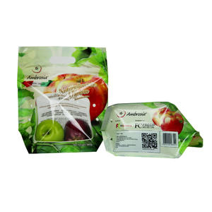 Custom Printed FDA Plastic Zipper Apple Bag