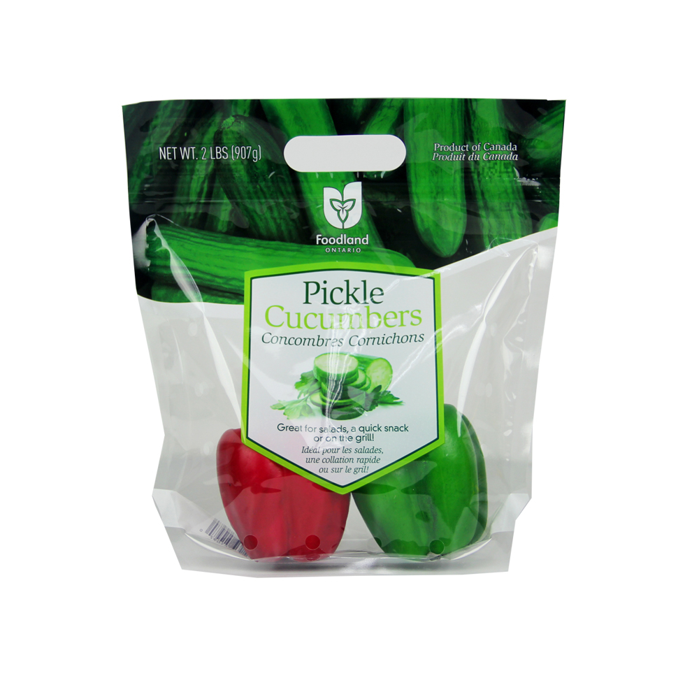 Mini Cucumbers Packaging Bag