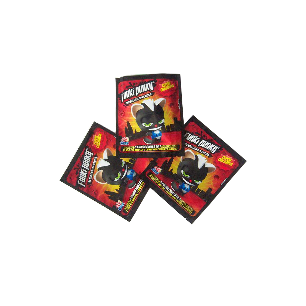 Colorful Printed Pocket Figures Packaging Heat Seal Foil Pouches