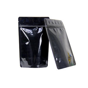Black Foil Stand Up Reusable Ziplock Bags