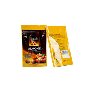 Foil Stand Up Almonds Packaging Bag With Zip Top