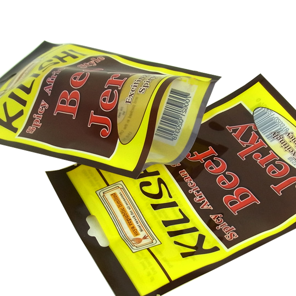 Printed Plastic Beef Jerky Packaging Bags