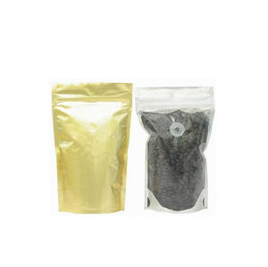 Stand Up Coffee Bean Bags With Degassing Valve