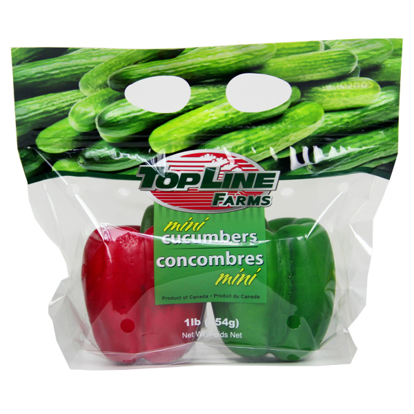 Mini Cucumber Storage Custom Plastic Bags